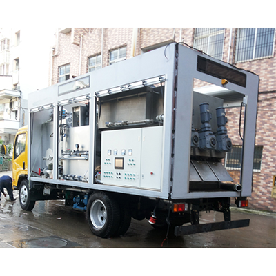 集成车载移动式叠螺球吧网手机版直播脱水系统